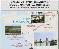 Flèche et relais Paris - Nantes - La Rochelle - Mai 2019